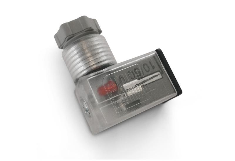 Electropilotes avec vanne interface et connecteurs micro EN 175301 - 803 (EX DIN 43650) - C, pour bobines électropilotes