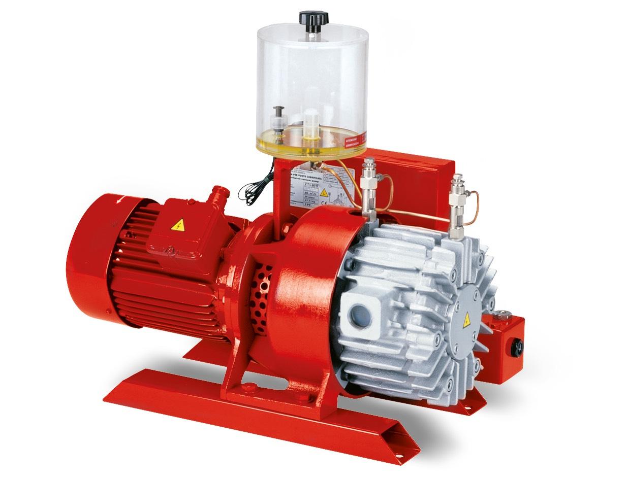 Pompes à vide VTLP 40/G1,  VTLP 50/G1 et VTLP 65/G1 avec lubrification à huile perdue
