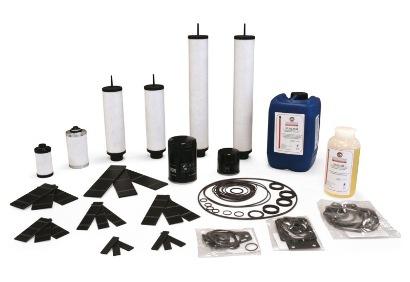 Accessoires et pièces de rechange pour pompes à vide lubrifiées