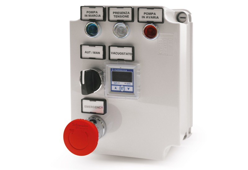 Appareils électriques de commande pour mini centrales de vide