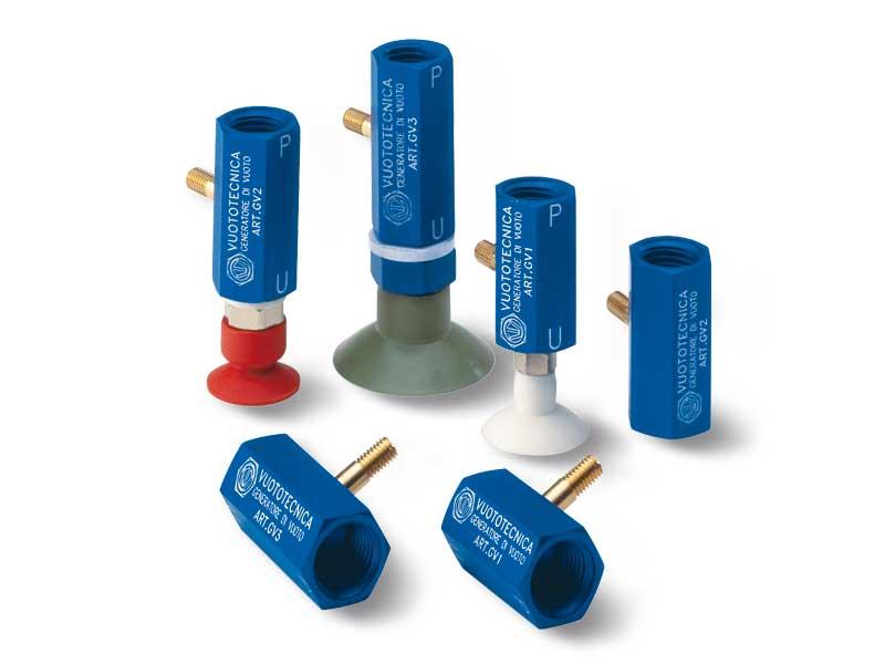 Générateurs de vide mono-étagé en ligne GV 1, GV 2 et GV 3