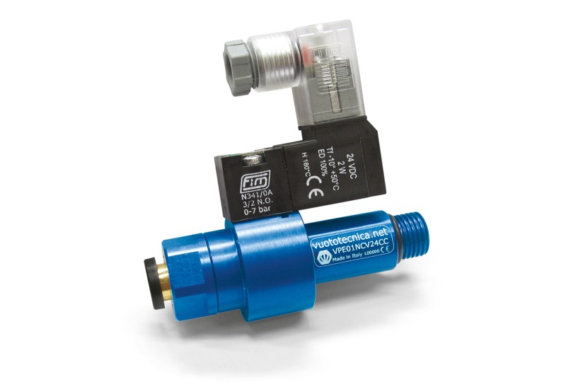 Accessoires pour générateurs de vide mono-étagé - Vannes pneumatiques à obturateur coaxial