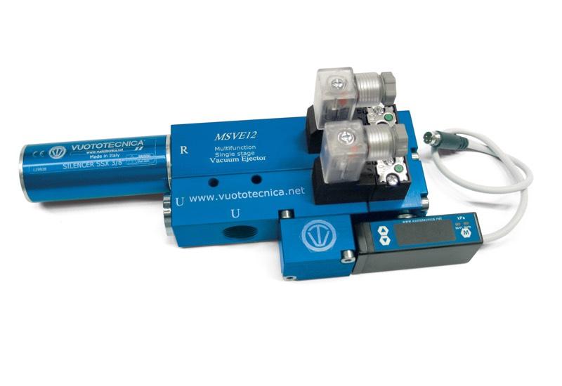 Générateurs de vide mono-étagé et multifonction MSVE 8 et MSVE 12