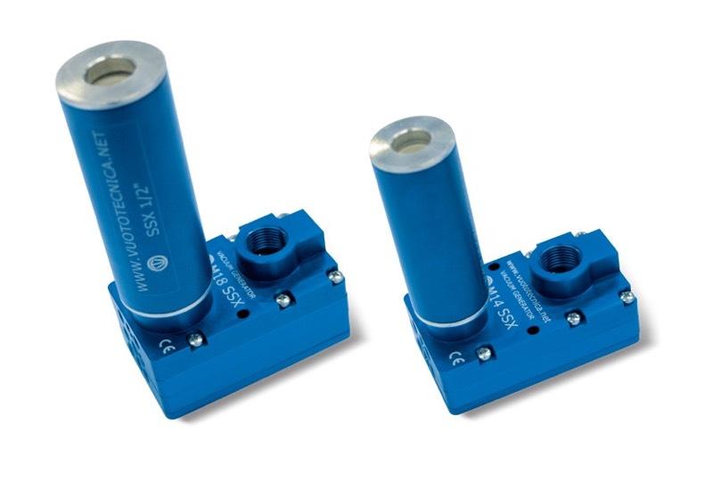 Générateurs de vide multi-étagés M 10 SSX, M 14 SSX et M 18 SSX