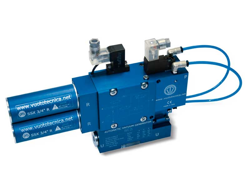 Générateurs de vide mono-étagé et multifonction AVG 18 et AVG 25