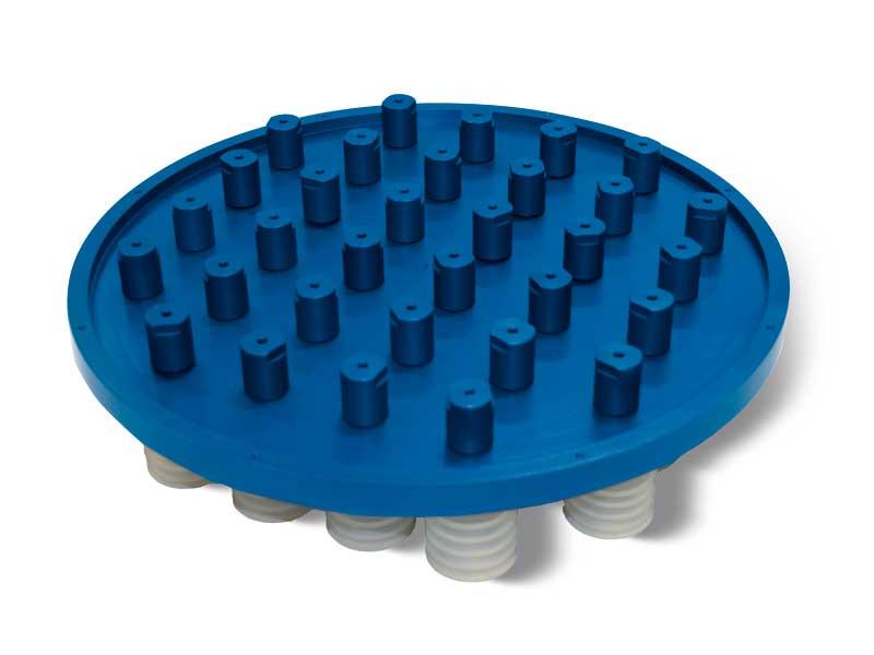 Panneaux d'aspiration à ventouses avec vannes d'isolement automatique P2V2E, pour systèmes OCTOPUS