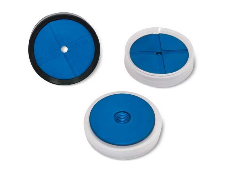 Ventouses rondes plates avec supports correspondants