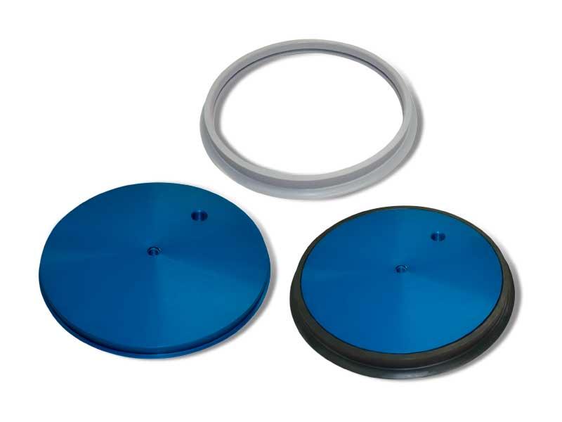 Ventouse ronde plate avec support correspondant