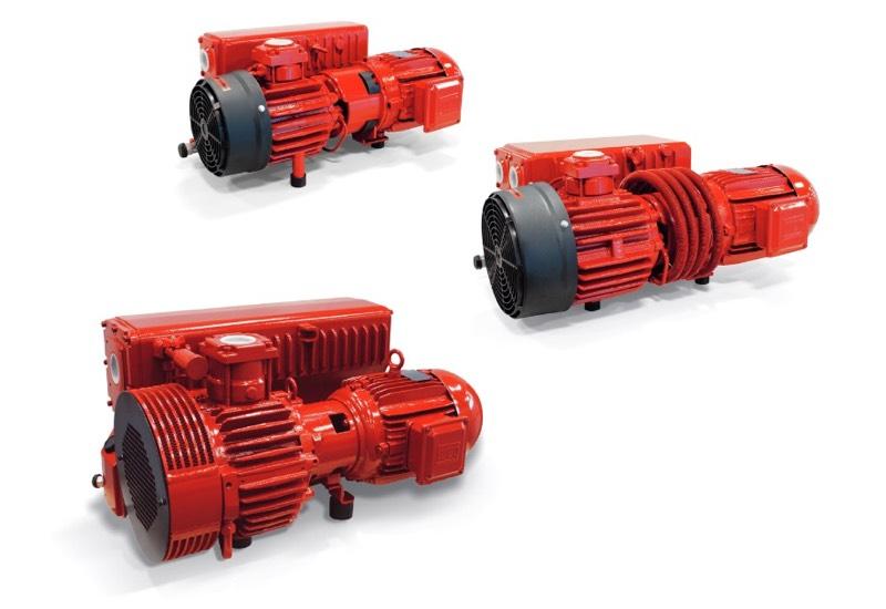 Pompes à vide à palettes rotatives lubrifiées, série RVP - Généralités