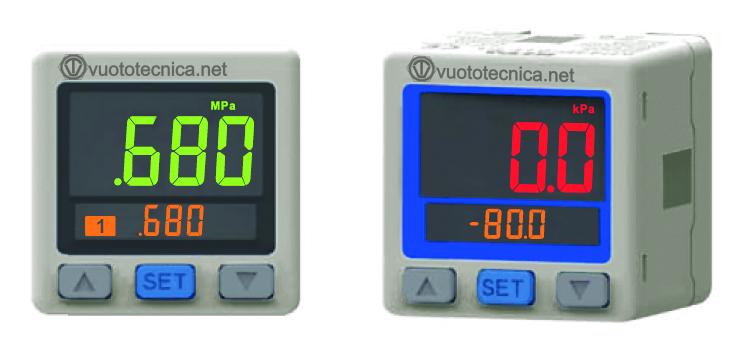 Vacuostats et pressostats numériques avec écran à deux couleurs