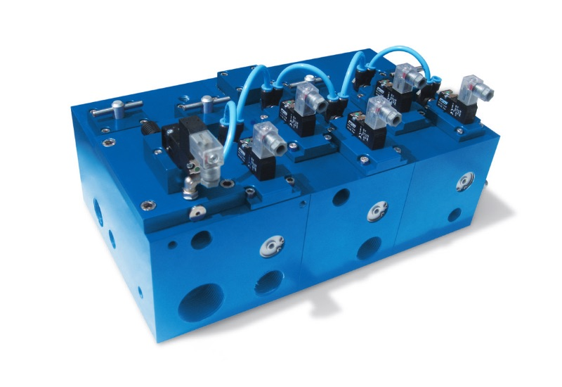 Electrovannes – réalisations spéciales sur demande modules multifonctions avec électrovannes pour le vide intégrées