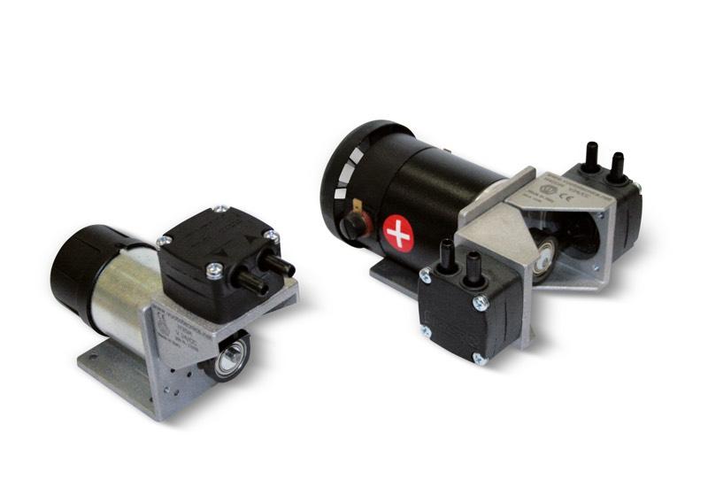 Minipompes à vide à membrane avec moteur en c.c.