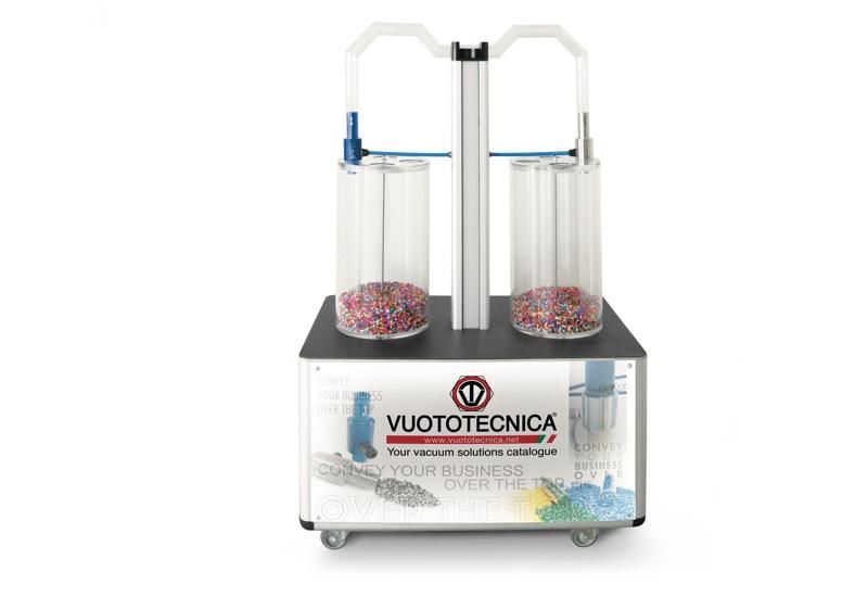 Échantillons et appareils à usage démonstratif - Unité de démonstration pour le transfert de poudres et granulés avec générateurs de flux CX - CONVY01