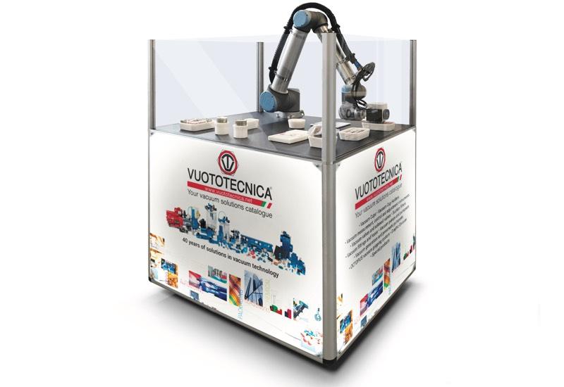 Échantillons et appareils à usage démonstratif - Robot équipé pour la préhension et la manipulation d'objets avec ventouses et pinces à vide spéciales - VACBOT