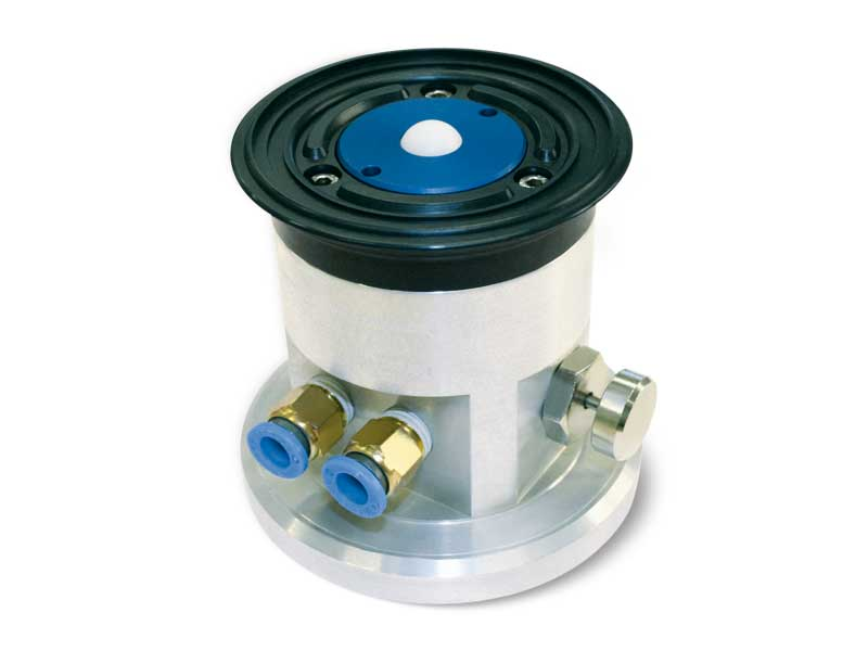 Ventouses rondes avec obturateur à sphère, support autobloquant et bouton de déverrrouillage, pour verre