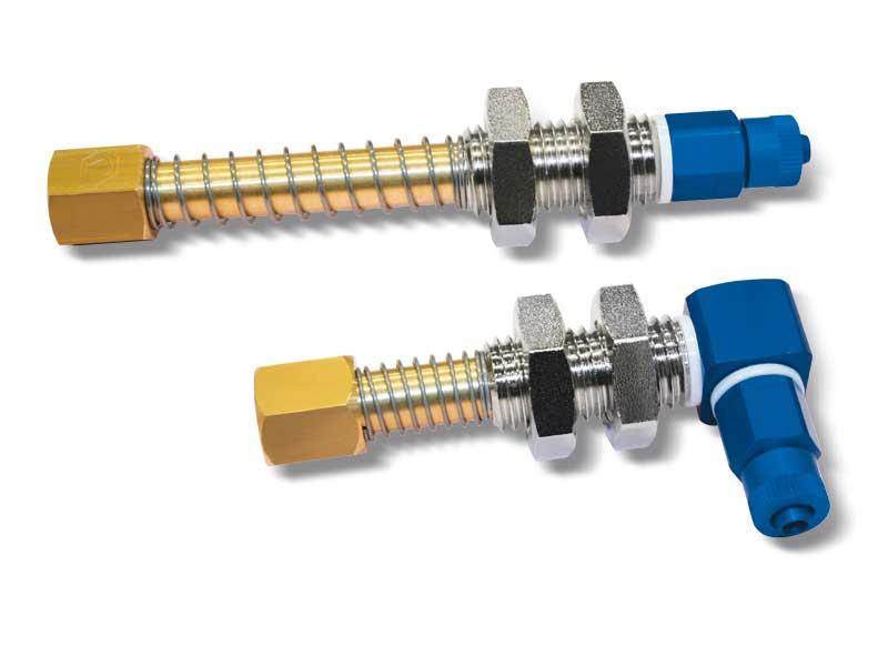 Porte-ventouses simples avec attaches filetées mâle e femelle
